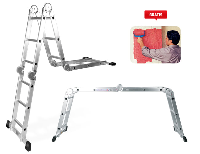 ESCADA MULTIUSO SUPER LADDER + PAINT RUNNER